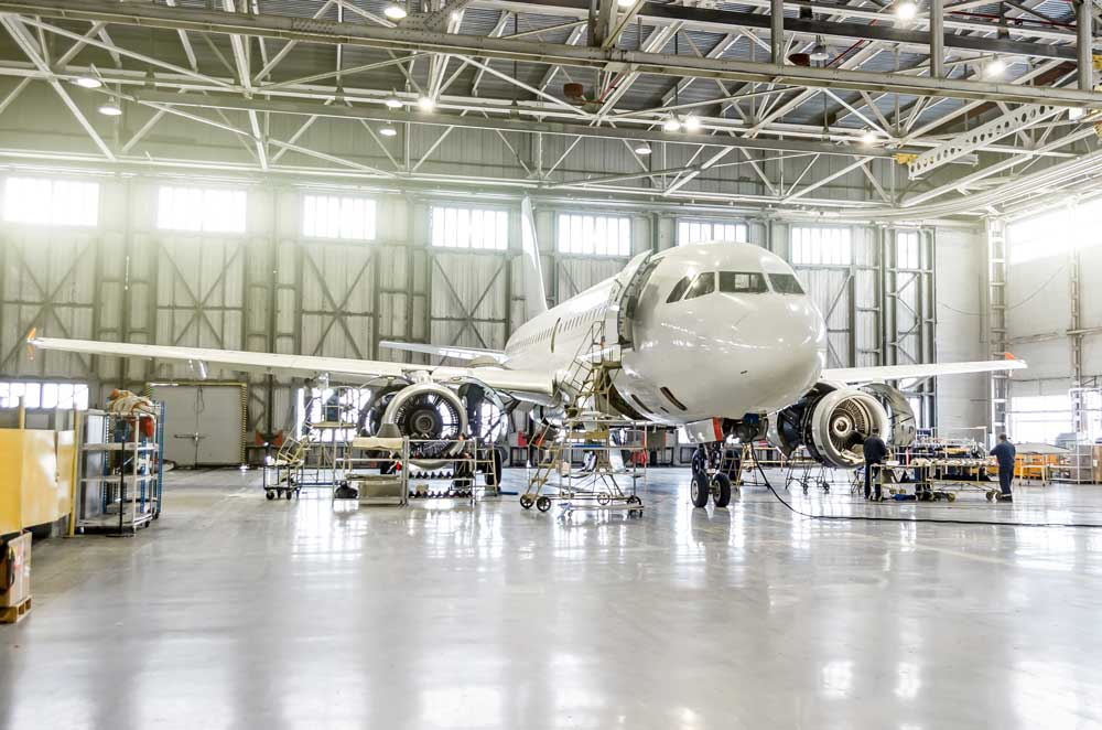 Aircraft called in for a service check by using best practices of predictive maintenance.